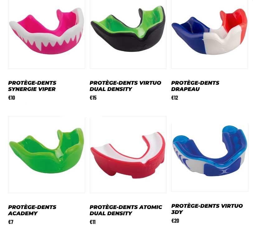 La gamme des protège-dents Gilbert